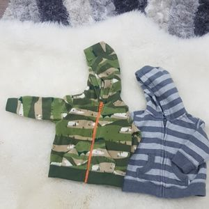 Carter's and Gap hooded shirt 3 to 6 months